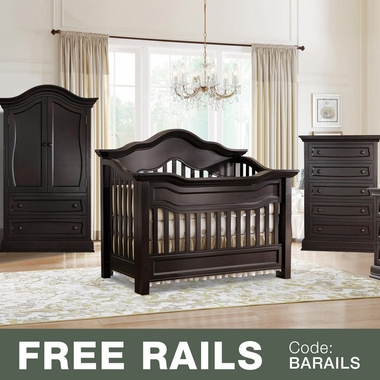 Baby Appleseed Millbury 3 Piece Nursery Set Convertible Crib Armoire And 5 Drawer Chest In