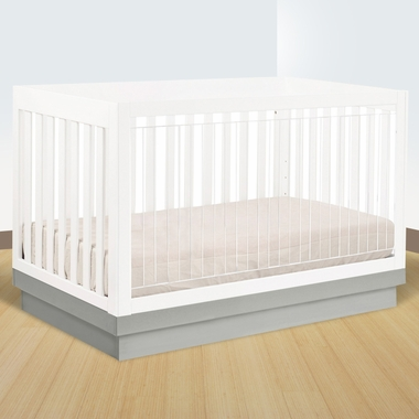 Babyletto harlow 3 in 1 convertible crib in white acrylic for Harlowe bed
