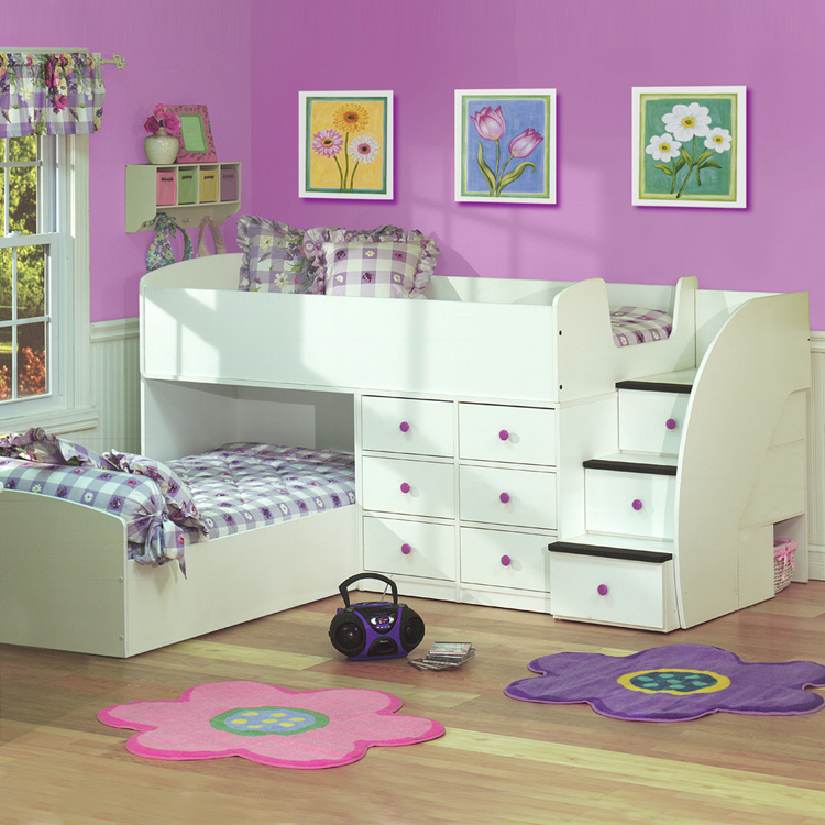 Berg Furniture Sierra Captain S Full Over Twin Bed For Two With Stairs Free Shipping