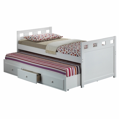broyhill kids breckenridge twin captain bed with trundle bed and drawers in white free shipping. Black Bedroom Furniture Sets. Home Design Ideas
