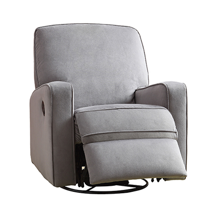 Reclining glider dutailier modern square back glider with for Chaise dutailier