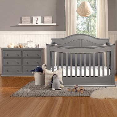 Davinci Meadow 2 Piece Nursery Set 4 In 1 Convertible Crib And Signature 6 Drawer Double