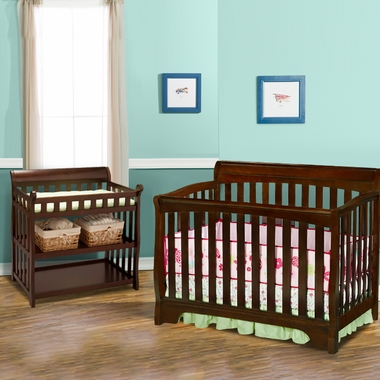 Delta 2 Piece Nursery Set Eclipse 4 In 1 Convertible Crib And Changing Table