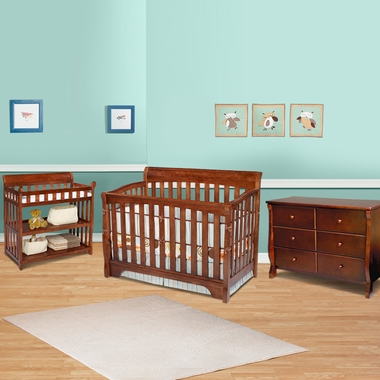 Delta 3 Piece Nursery Set Eclipse 4 In 1 Convertible Crib Changing Table And