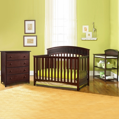 graco cribs 3 piece nursery set charleston convertible crib changing table and 4 drawer. Black Bedroom Furniture Sets. Home Design Ideas