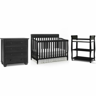 graco cribs 3 piece nursery set stanton convertible crib sarah changing table and portland 4. Black Bedroom Furniture Sets. Home Design Ideas