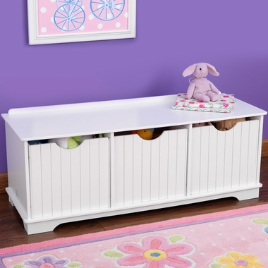 Kidkraft Nantucket Storage Bench In White Free Shipping