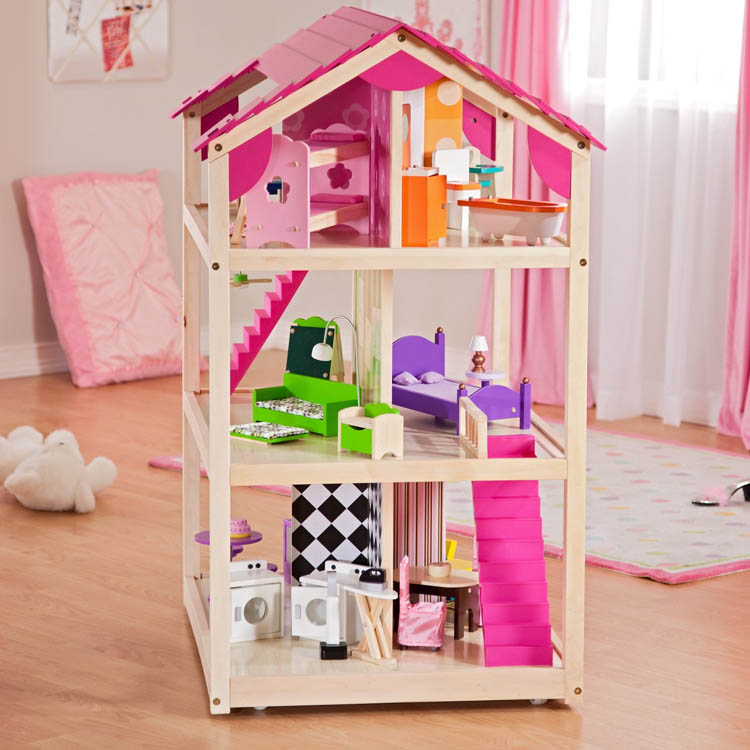 Kidkraft So Chic Dollhouse With Furniture Roselawnlutheran