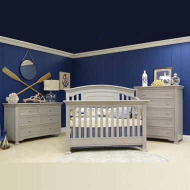 Munire 3 Piece Nursery Set Medford Lifetime Crib 6 Drawer Double Dresser And 5 Drawer Chest