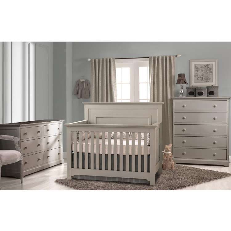 Baby Cache Vienna Lifetime Crib Ash Gray Evolur Aurora Wooden 5in1 Convertible Crib Blush Pink