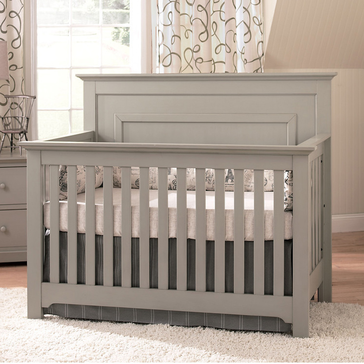 Munire 2 Piece Nursery Set Chesapeake Lifetime Crib And Double Dresser In Light Grey Free Shipping