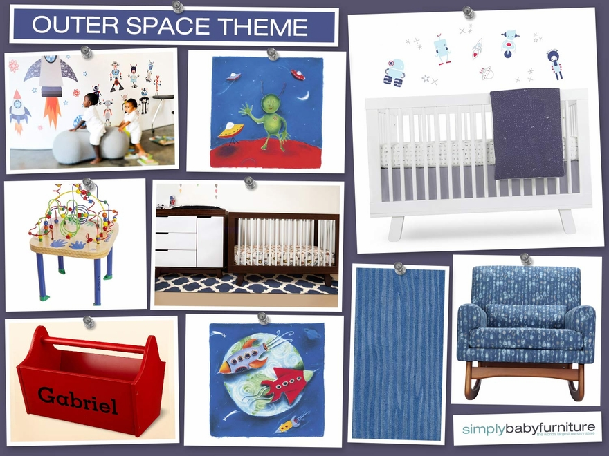 Outer space nursery design inspirations for Outer space decor for nursery