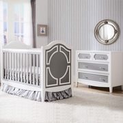 simmons kids hollywood 3 in 1 crib in white grey free shipping. Black Bedroom Furniture Sets. Home Design Ideas