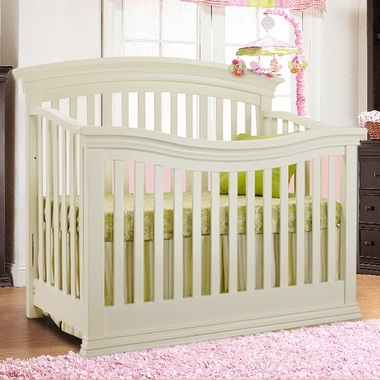 Sorelle Verona 4 In 1 Convertible Crib In French White Free Shipping
