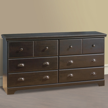 Southshore Mountain Lodge 6 Drawer Double Dresser In Ebony 3877 Free Shipping