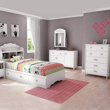 Southshore tiara 4 piece bedroom set tiara twin mates - South shore 4 piece bedroom furniture set ...