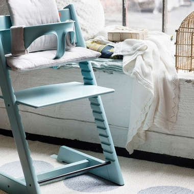 stokke tripp trapp high chair in aqua blue free shipping. Black Bedroom Furniture Sets. Home Design Ideas