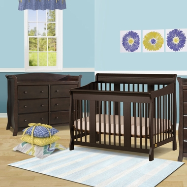storkcraft 2 piece nursery set tuscany convertible crib