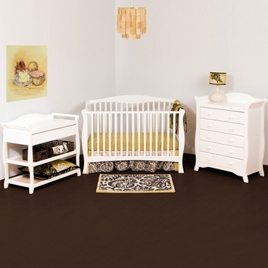 storkcraft 3 piece nursery set savona convertible crib aspen changing table and avalon 5. Black Bedroom Furniture Sets. Home Design Ideas