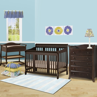 storkcraft 3 piece nursery set tuscany convertible crib aspen changing table and avalon 5. Black Bedroom Furniture Sets. Home Design Ideas