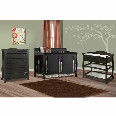 storkcraft 3 piece nursery set verona convertible crib aspen changing table and avalon 5. Black Bedroom Furniture Sets. Home Design Ideas
