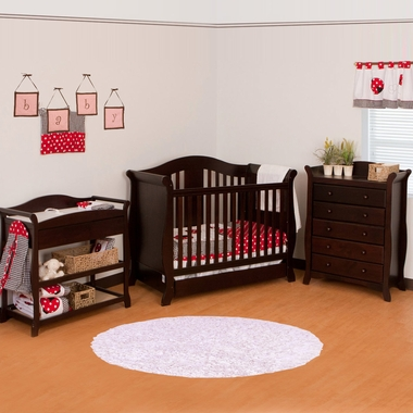 Storkcraft 3 Piece Nursery Set Vittoria Convertible Crib Aspen Changing Table And Avalon 5