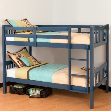Storkcraft caribou bunk bed in navy free shipping for Stork craft caribou bunk bed