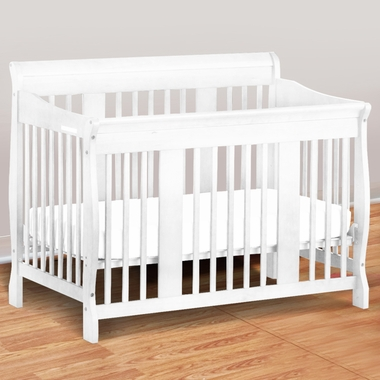 storkcraft tuscany 4 in 1 convertible crib in white free. Black Bedroom Furniture Sets. Home Design Ideas