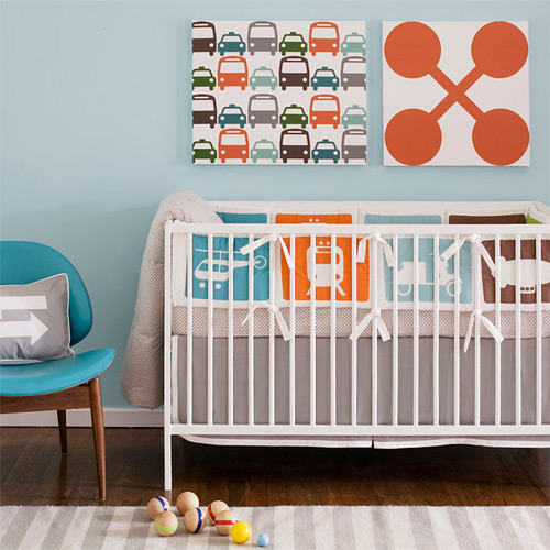 Dwellstudio Transportation Crib Bedding