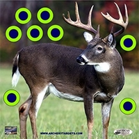 American Whitetail Tough Target Face Deer 18x18
