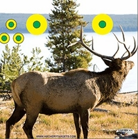 American Whitetail Tough Target Face Elk 18x18