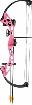 Bear Brave Youth Compound Bow Set Right Hand Pink
