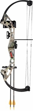 Bear Brave Youth Compound Bow Set Right Hand Realtree APG Camo