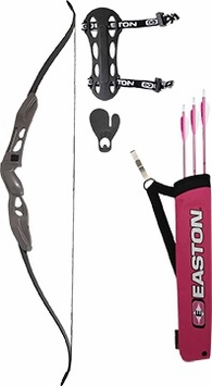 Easton Beginner Recurve Bow Kit with Pink Quiver