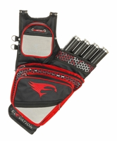 Elevation Adrenalin Hip Quiver Black with Red