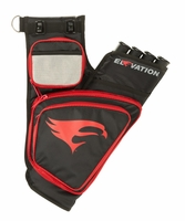 Elevation Transition Hip Quiver Black with Red
