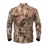 Kryptek Hoplite II Zip Base Layer Long Sleeve Shirt Highlander Camo