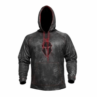 Kryptek Tartaros Hoodie Typhon Camo with Black and Red