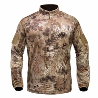 Kryptek Valhalla Long Sleeve Zip Shirt Highlander Camo