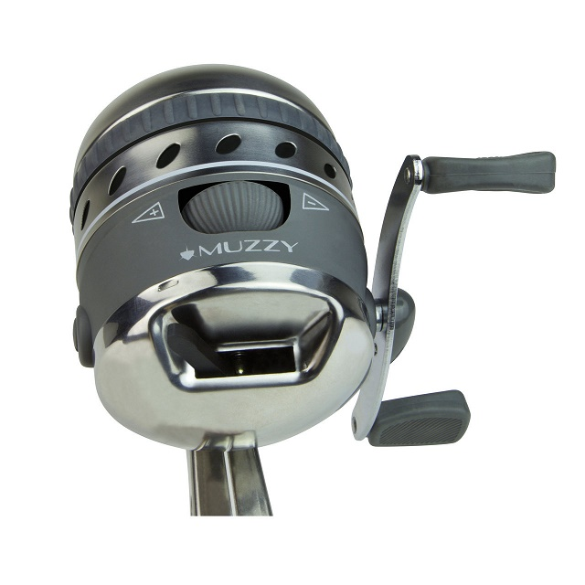 Muzzy xd pro bowfishing reel for Crossbow fishing reel