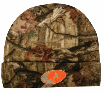 Outdoor Cap Company Fleece Watch Cap Reversible Infinity Camo to Blaze