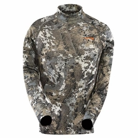 Sitka Youth Core Midweight Mock T Shirt Elevated II Camo