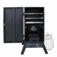 "Weston Products 30"" Outdoor Propane Smoker Vertical Black"