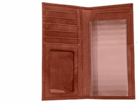 Western Leather Rodeo Wallet - Checkbook Length - Click to enlarge