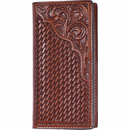 Western Leather Rodeo Wallet - Checkbook Length