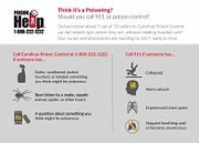 Poison Control & 911 Infographic