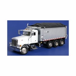 #5028D Peterbilt 357 Rigid w/East Genesis Dump Body - White (SW2042-W)