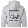 Backside of Long-sleeve Hooded Sweatshirt