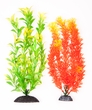 "2-Pack Multi-colored Orange/ Green with Highlights, Approx. 10"" Plant Decor"