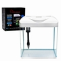 Curved Corner Aquarium Tank 8Gallon CC-A8 White